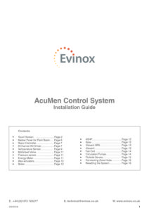 Evinox AcuMen Installation Guide