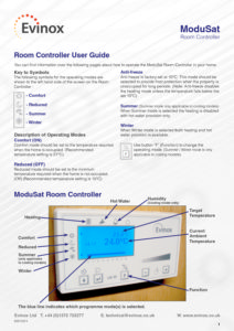 ModuSat UA10 Room Controller User Guide