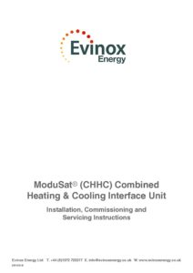 ModuSat CHHC Installation & Maintenance Manual 2015